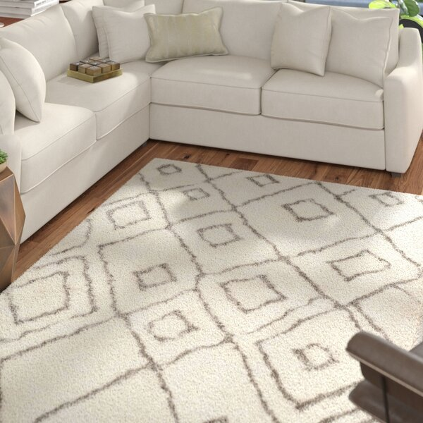 Briganti Hand-Tufted Ivory/Light Gray Area Rug by Mercury Row