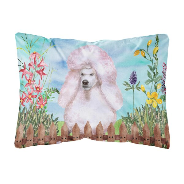 Sailer Standard Poodle Spring Indoor/Outdoor Throw Pillow by Winston Porter