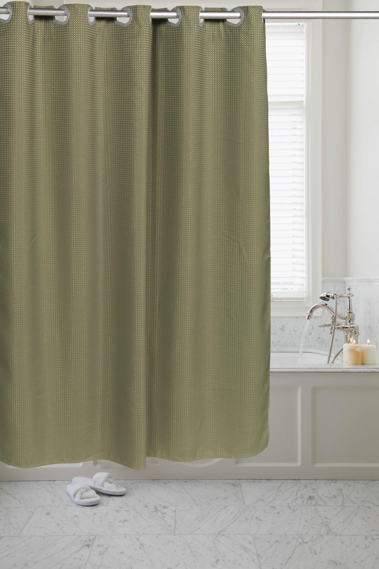 Cyra Waffle Weave Single Shower Curtain