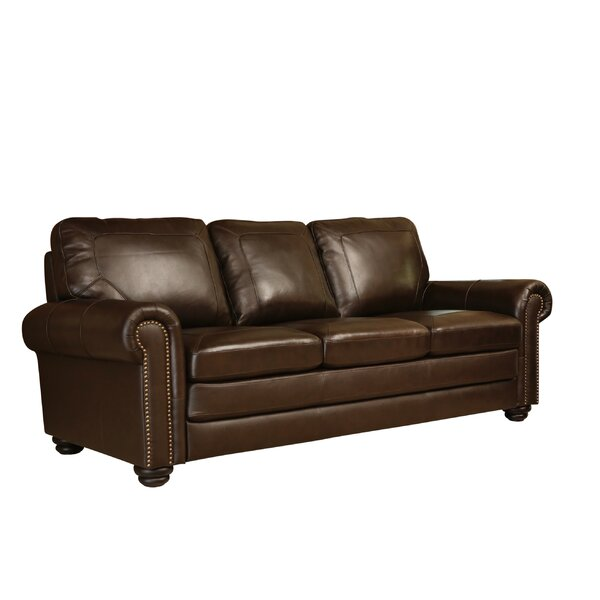 Bolling Leather  Sofa by Darby Home Co