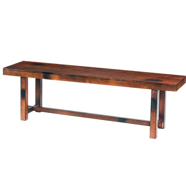 Siems Wood Bench by Millwood Pines Millwood Pines