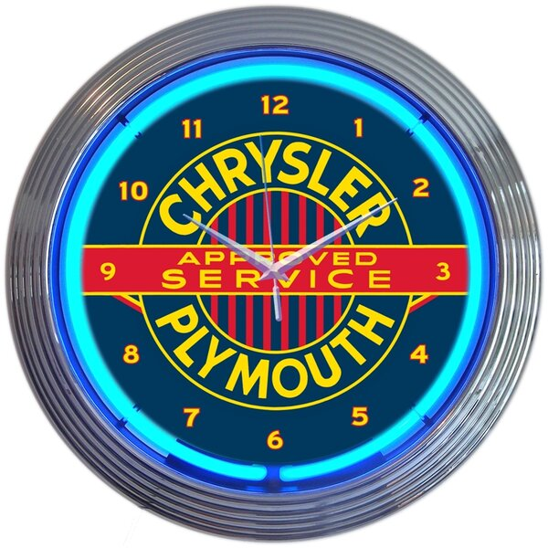 15 Chrysler Plymouth Neon Clock by Neonetics