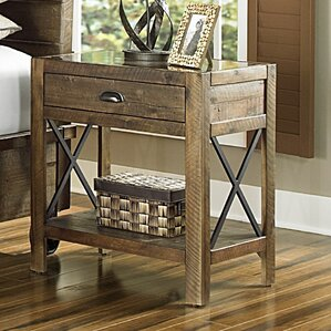 Gilman 1 Drawer Nightstand by Loon Peak