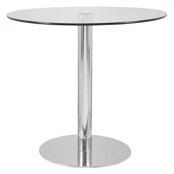 Hollowell Clear Round Kitchen Dining Table by Orren Ellis