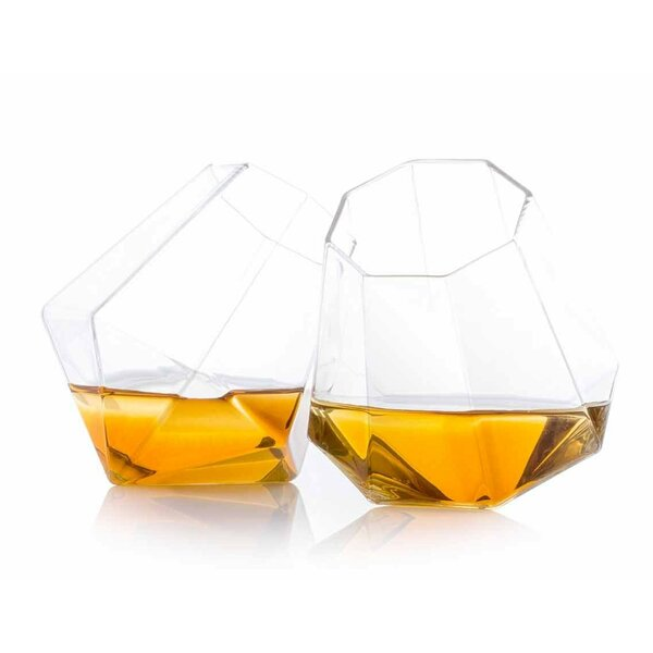 Leandro Diamond Whiskey Glass (Set of 2) by Wrought Studio