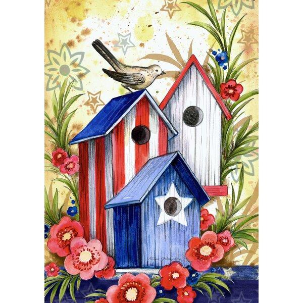 Birdhouse Trio 2-Sided Garden flag by Toland Home Garden