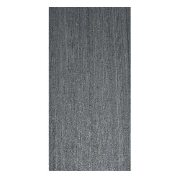 Volcano 12 x 24 Porcelain Field Tile in Nero by Casa Classica
