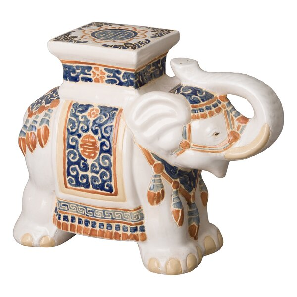 Kress Elephant Garden Stool by World Menagerie