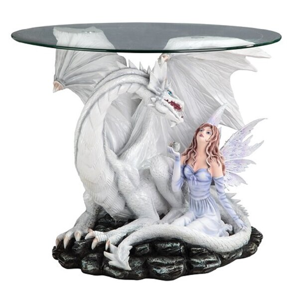 Oyler Fairy And Dragon End Table By Red Barrel Studio
