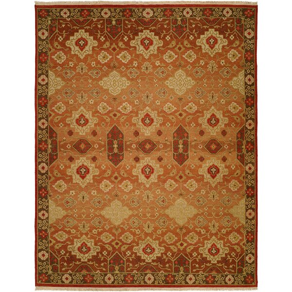 San Diego Hand-Woven Rust/Ivory Area Rug by Wildon Home ®