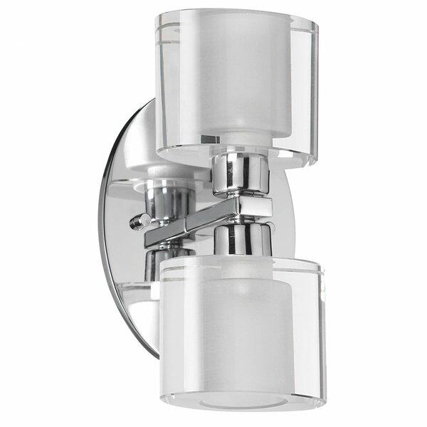 Wilkinsburg Oval Glass 2-Light Vanity Light by Red Barrel Studio