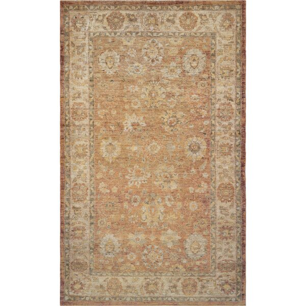 Agra Fine Hand-Knotted Wool Beige Indoor Area Rug by Mansour