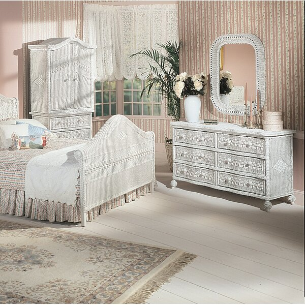Stonge 6 Drawer Double Dresser with Mirror by August Grove