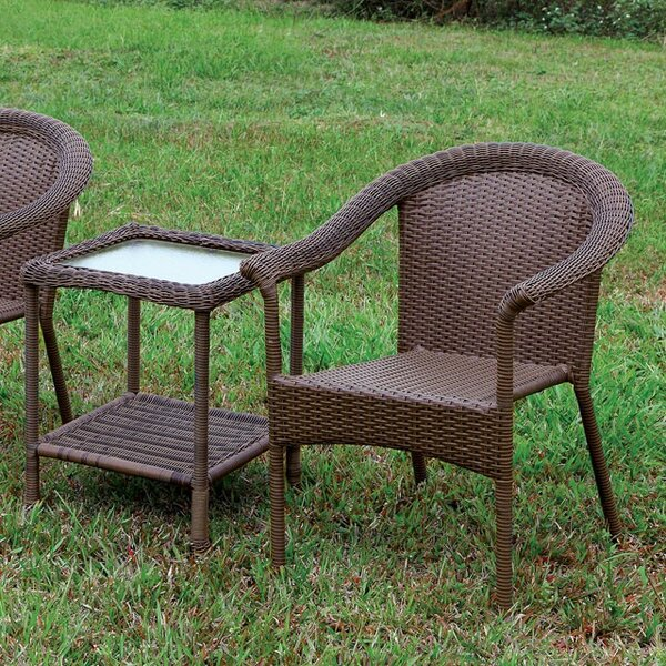 Mckinnon Patio Chair Set with End Table by Gracie Oaks