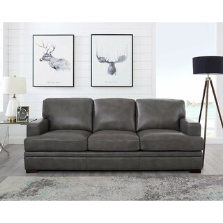 Werner Leather Sofa by 17 Stories SKU:BD266237 Details