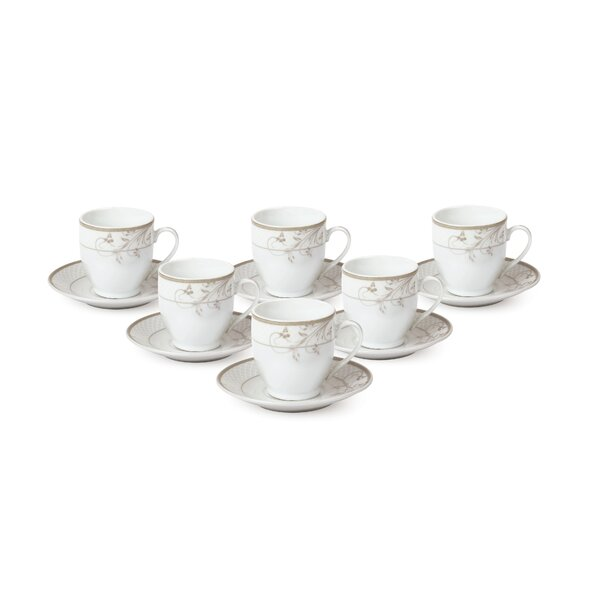 Espresso Cup And Saucer Set Set Of 6 By Lorren Home Trends.