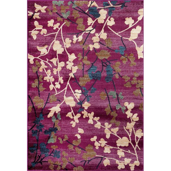 Frederick Purple Area Rug by Charlton Home