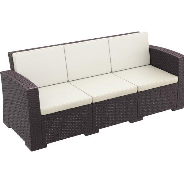 Vedder Resin Patio Sofa with Cushion by Brayden Studio