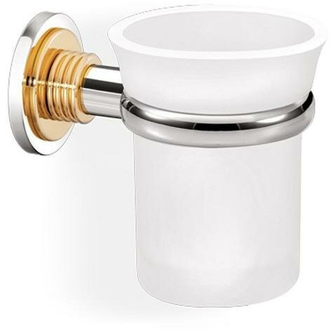 Loughlin Wall Frosted Glass Toothbrush & Tumbler Holder by Ivy Bronx