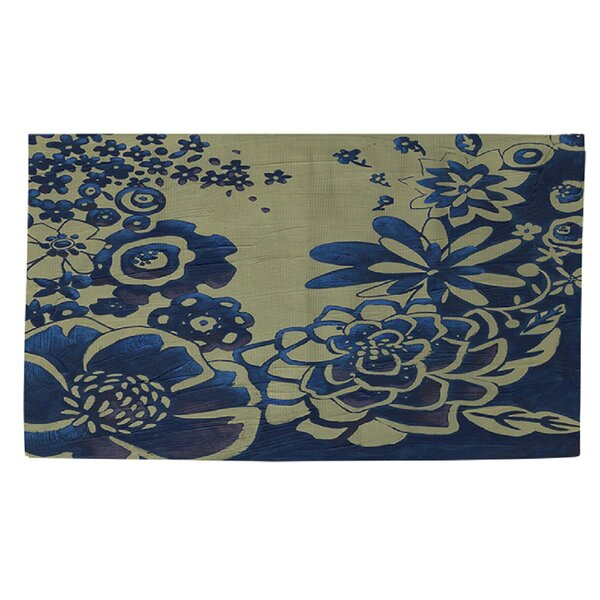 Kyoto Garden 3 Blue Area Rug by Manual Woodworkers & Weavers
