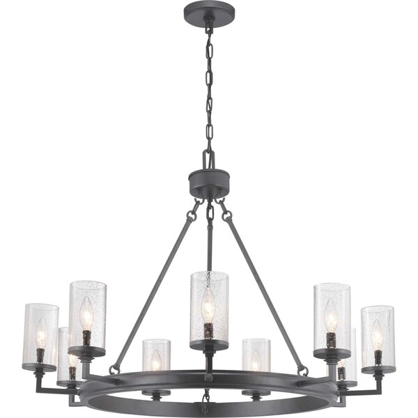 Malek 9 - Light Shaded Wagon Wheel Chandelier by Williston Forge Williston Forge