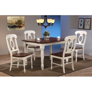 Kenya Butterfly Leaf 5 Piece Breakfast Nook Solid Wood Dining Set By August Grove