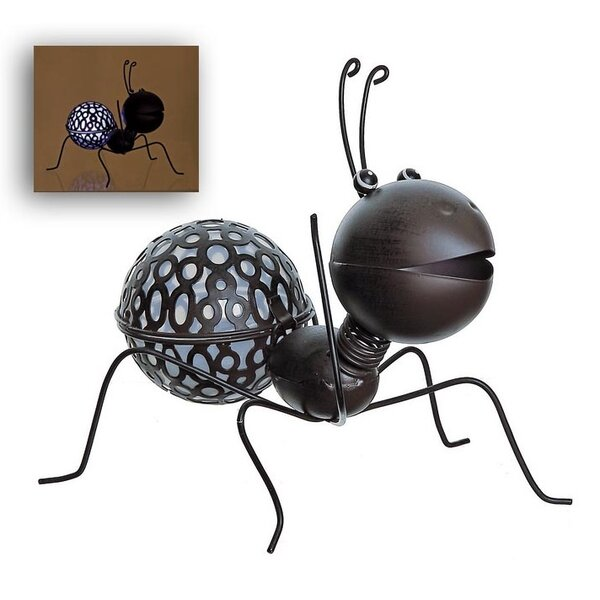LED Lighted Solar Powered Espresso Crawling Wire Ant Spring Outdoor Garden Solarlight by Northlight Seasonal