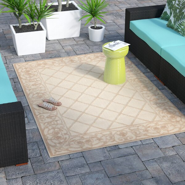 Seaside Cream Indoor/Outdoor Area Rug by Bay Isle Home