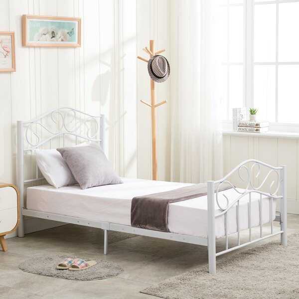 Cull Curved Twin Platform Bed by Fleur De Lis Living