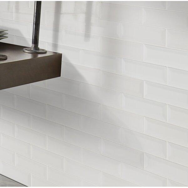 Whisper 2 x 6 Beveled Ceramic Mosaic Tile in White by MSI