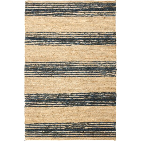 Pinehurst Hand-Knotted Black/Beige Area Rug by Bungalow Rose