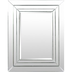 House of Hampton Rectangle Silver Accent Wall Mirror
