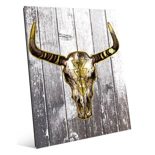 bull skull art wayfair