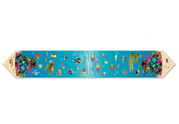 Printed Under The Sea Table Runner by The Beistle Company