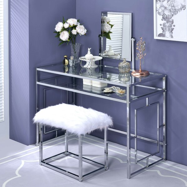 Hitchin Vanity Set with Mirror by Rosdorf Park