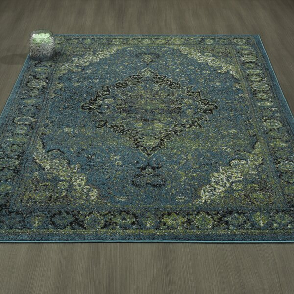 Adrianne Blue/Green Area Rug by Bloomsbury Market