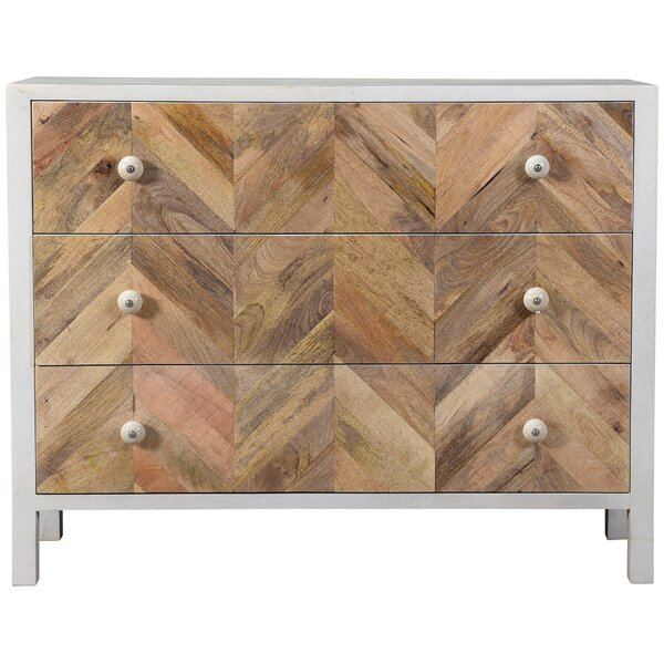 Hassani 3 Drawer Dresser by Bungalow Rose