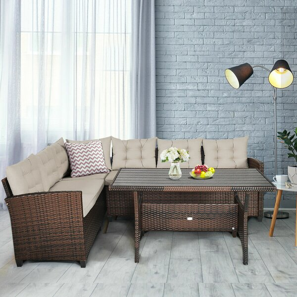 Collegedale 3 Piece Dining Set with Cushions by Ebern Designs