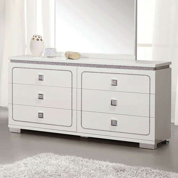 Shullsburg Wooden 6 Drawer Double Dresser by Orren Ellis