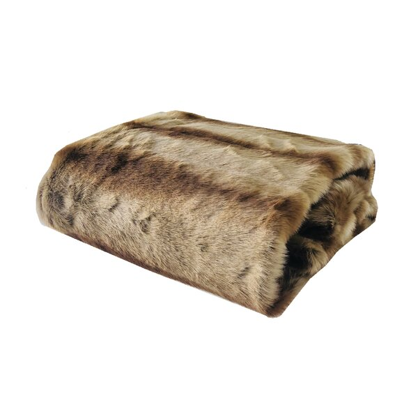 Radford Sheared Chinchilla Luxury Faux Fur Throw by Everly Quinn