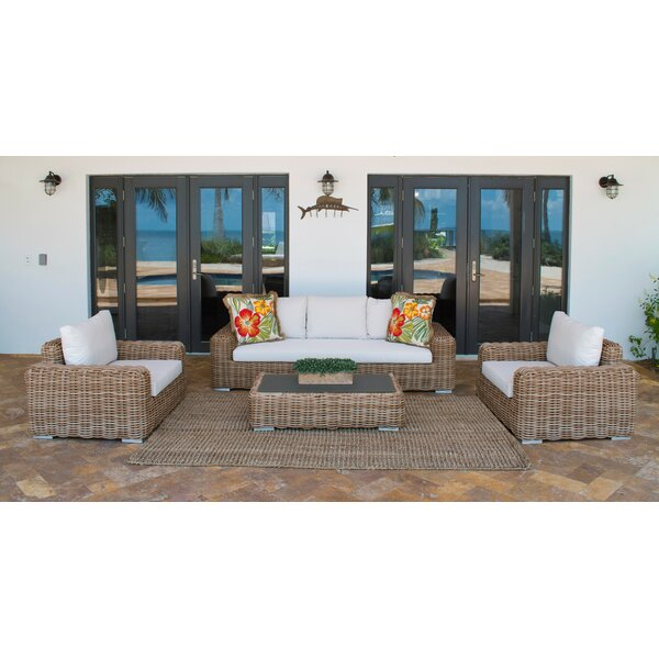 Cancun Deep Seating Sunbrella Seating Group with Cushions by Panama Jack Outdoor