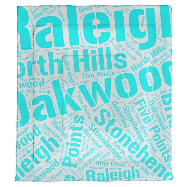 Raleigh, North Carolina Single Reversible Comforter
