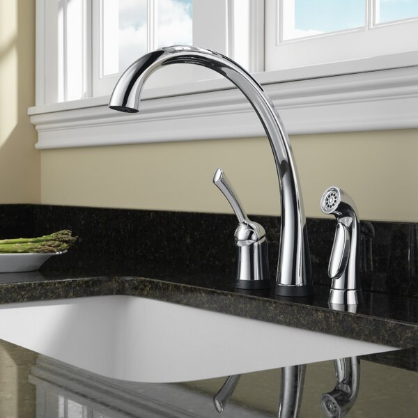 Pilar Touch Single Handle Kitchen Faucet with and Touch2O® Technology and Diamond Seal Technology by Delta