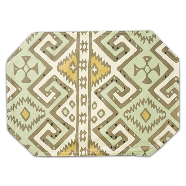 Danae Aztec Print Double Sided Vinyl Placemat (Set of 2) by Bloomsbury Market