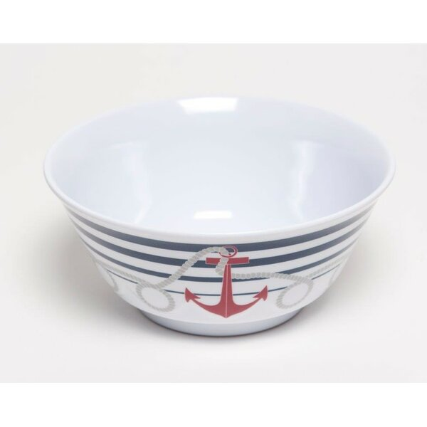 Yacht and Home 20 oz. Dockside Melamine Non-Skid Soup/Cereal Bowl (Set of 6) by Galleyware Company