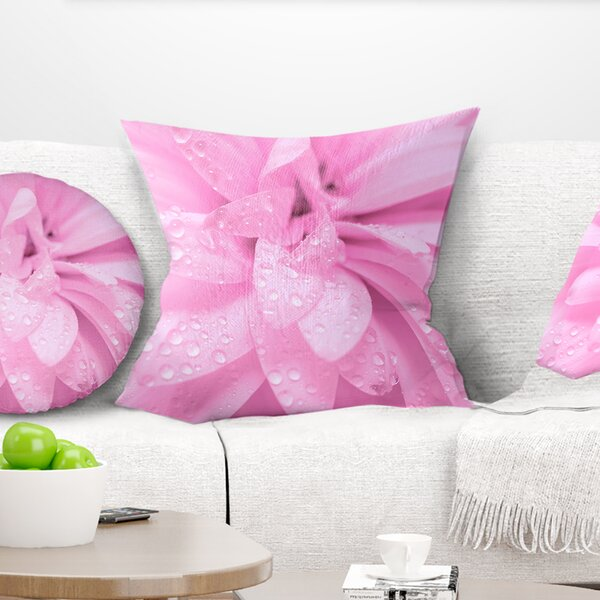 Abstract Flower with Petals Pillow by East Urban Home