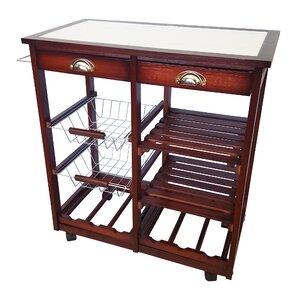 Oaken Wood Kitchen Trolley Bar Cart by JA Marketing