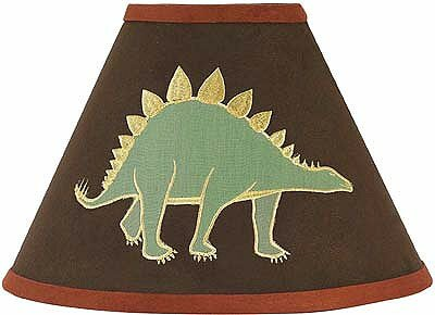 Dinosaur Land 10 Faux leather Empire Lamp Shade by Sweet Jojo Designs