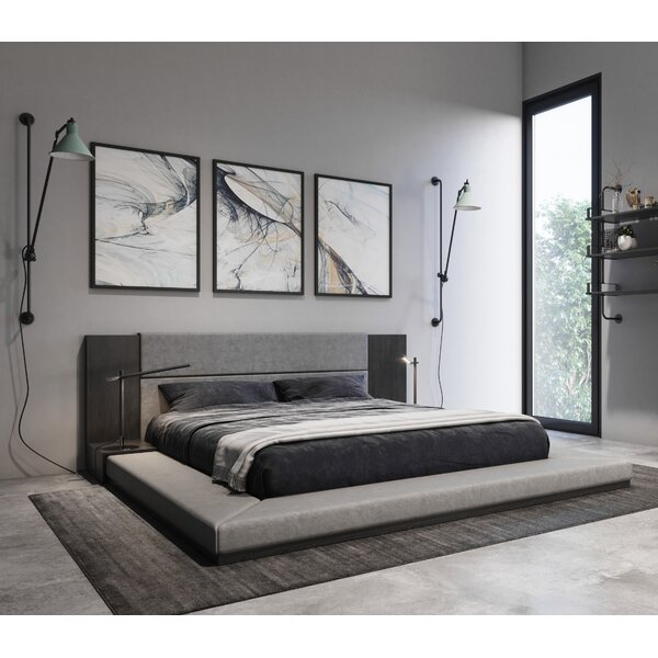 Defalco Upholstered Platform Bed by Foundry Select
