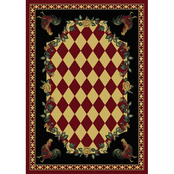 Novelty Synthetic Red/Black Area Rug by American Dakota